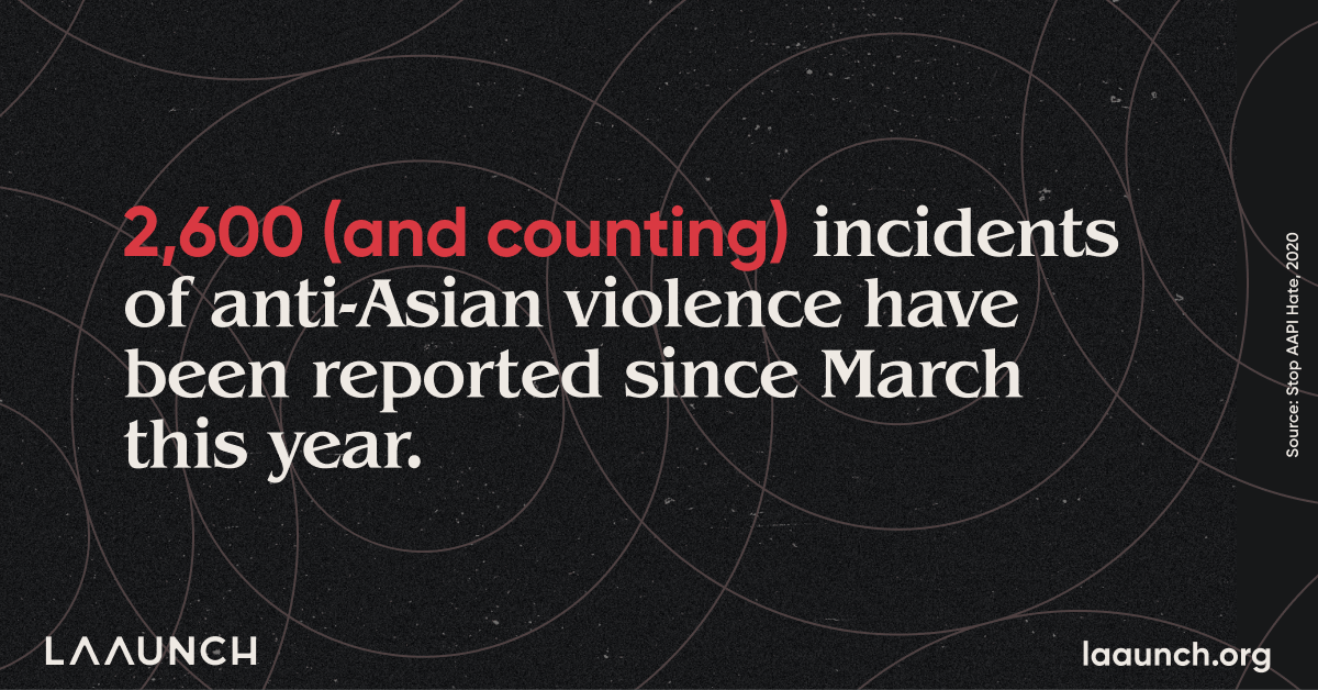 2,600 (and counting) incidents of anti-Asian violence have been reported since March this year.