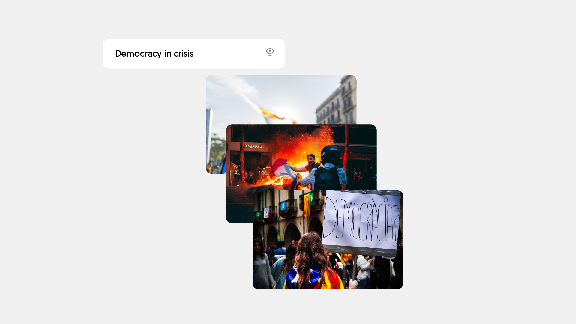 Democracy in crisis | Visual search solution | Mobius Labs