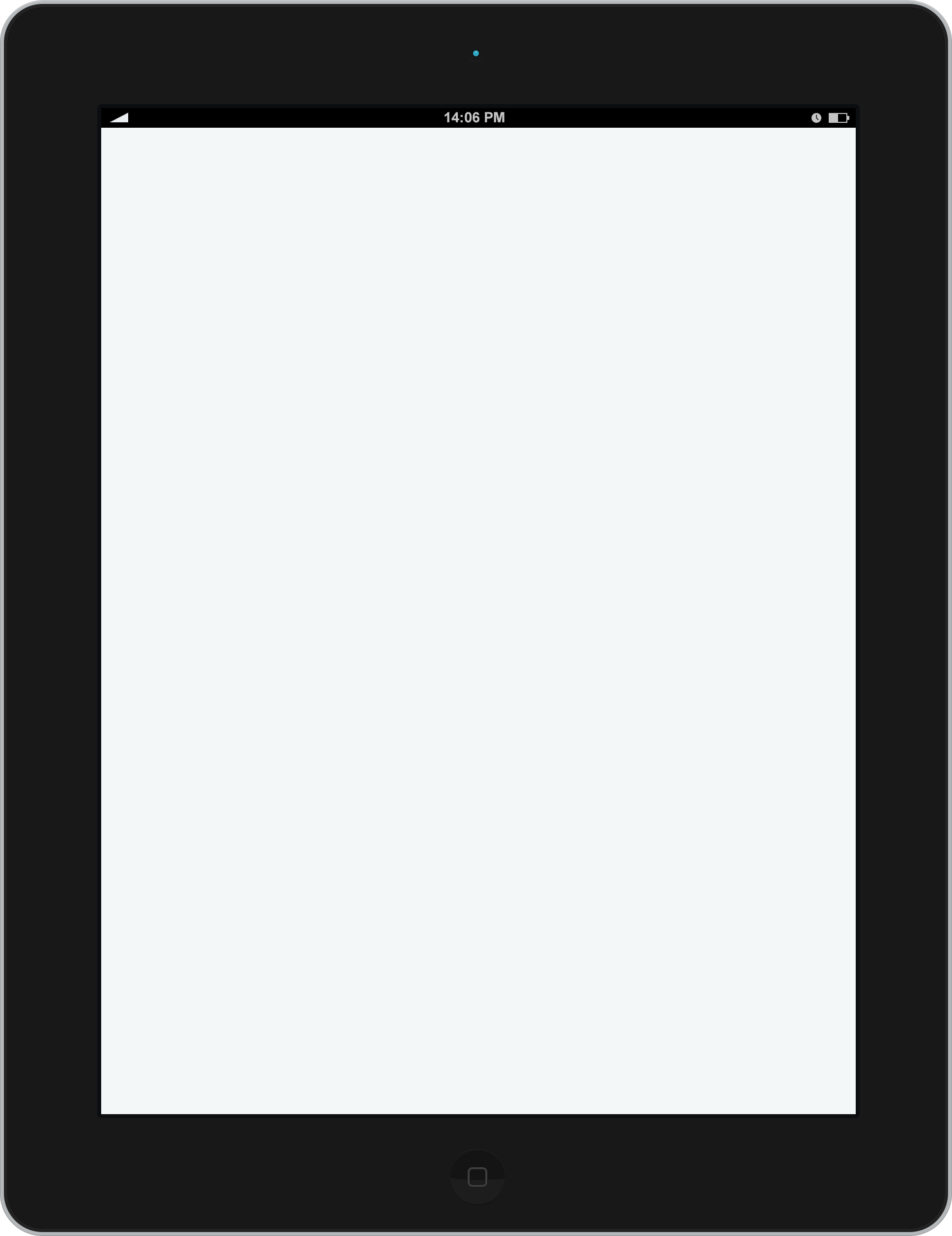 Blank Slate on an Ipad