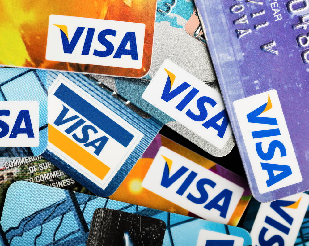 VISA mokėjimo kortelės