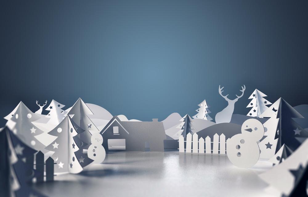 Kalėdinės dekaoracijos iš popieriaus