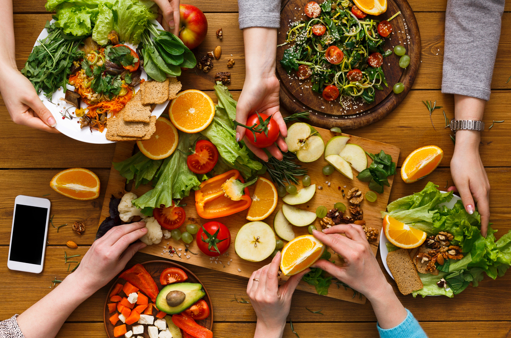 Užpildykite lėkštes daržovėmis