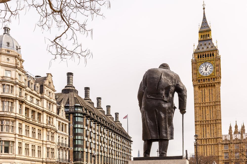 Vinstono Čerčilio statula Londone