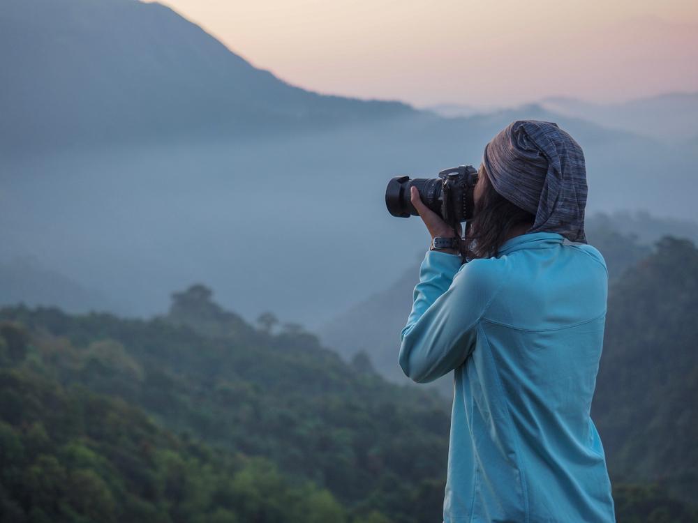 Fotografuoja peizažą