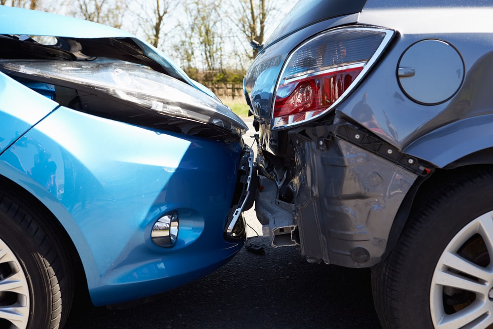 two vehicle crash