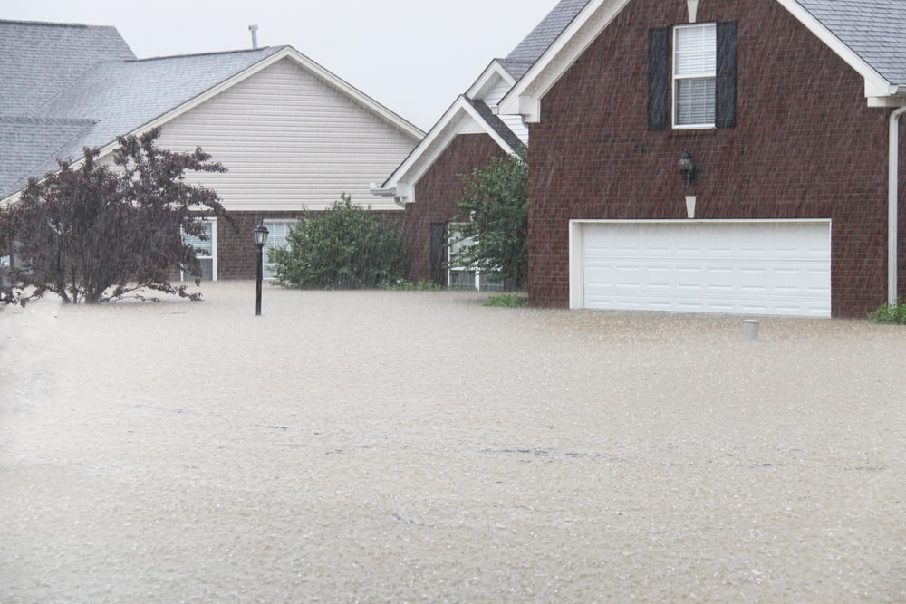 an image of a flooded house