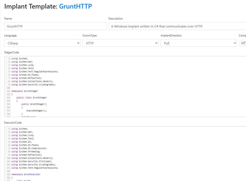 Customizing a Grunt implant template.