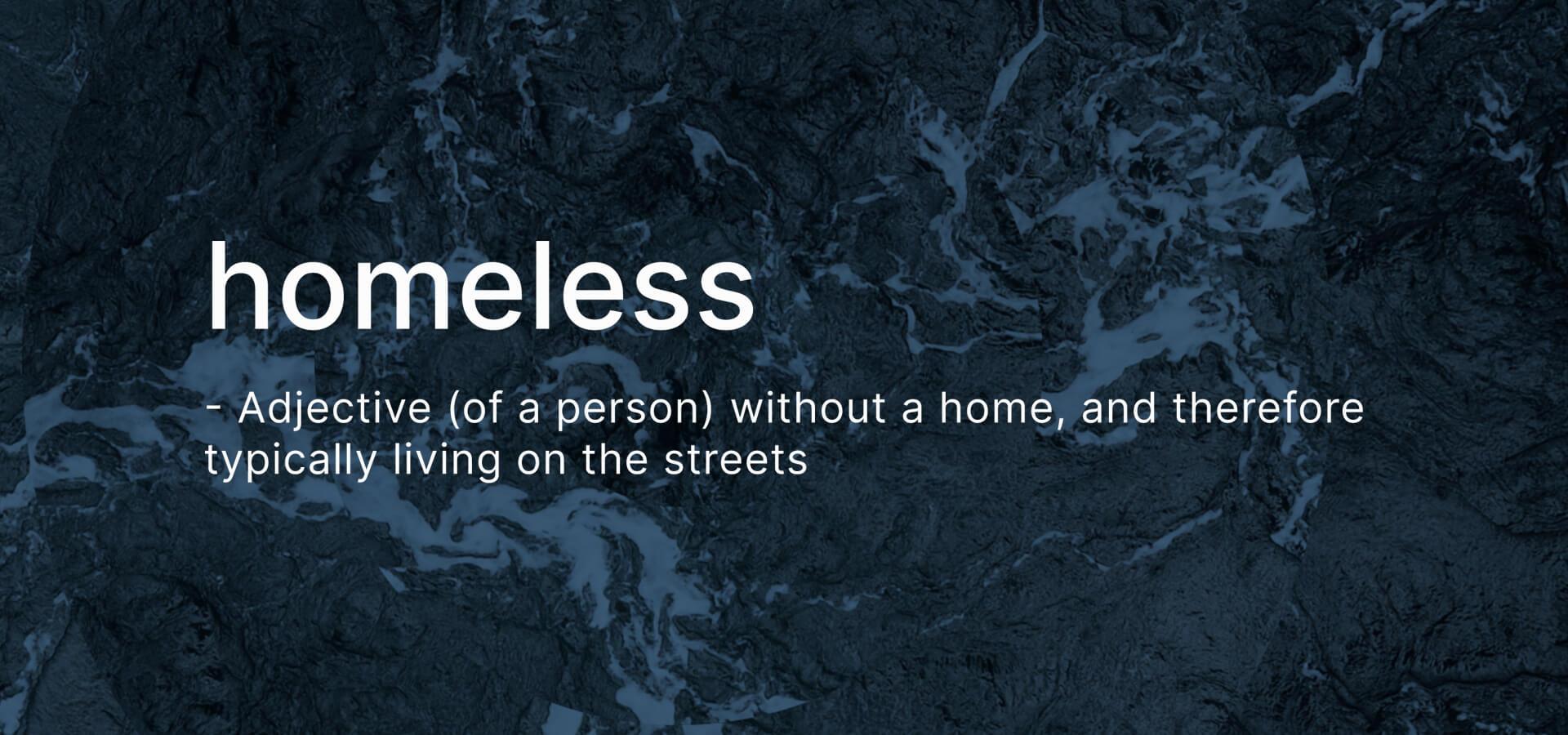 Homeless definition banner