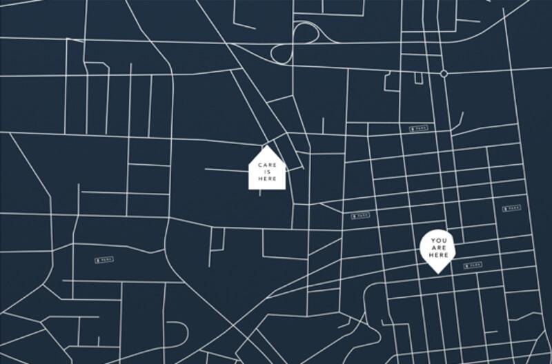 A map of Bethesda Center location