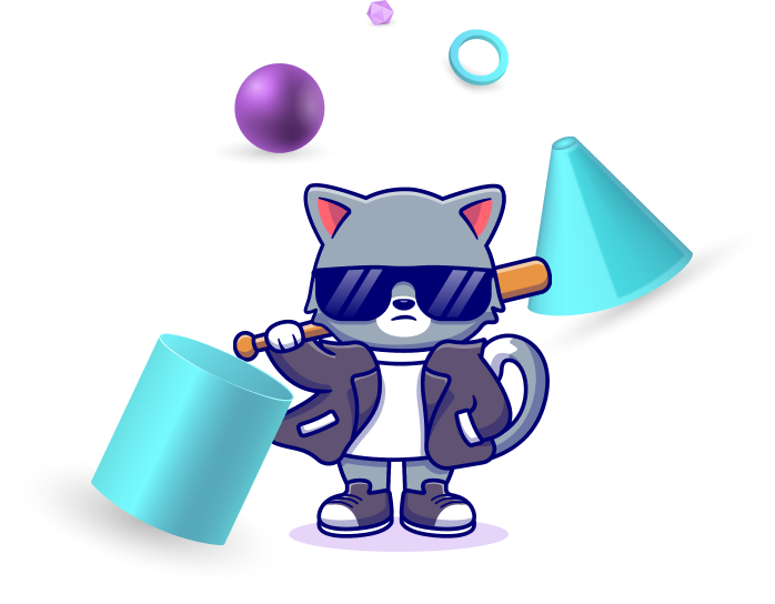 An image representing a cool, funky cat