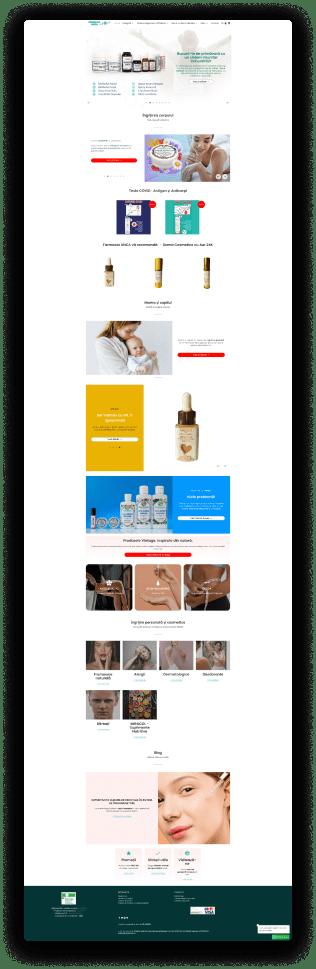 a printscreen of a home page