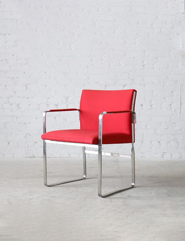 JH811 Johannes Hansen Steel Arm Chairs (2)