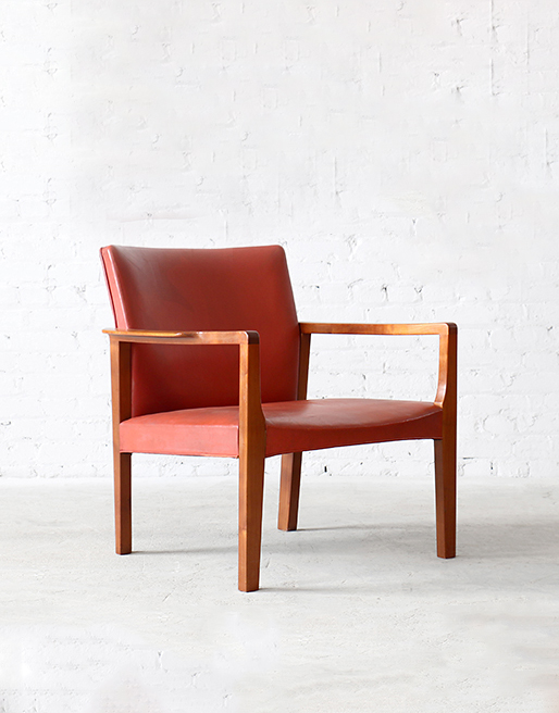 Cuban Mahoganry & Leather Easy Chair