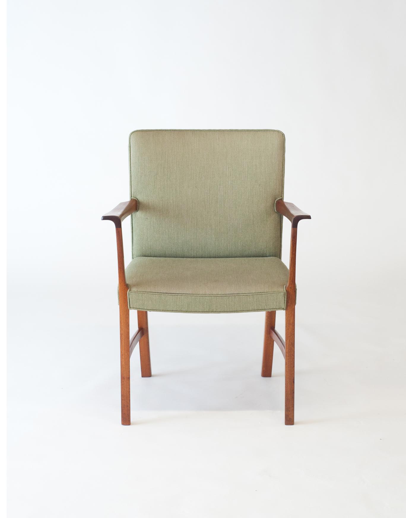 AJ Iversen Mahogany Arm Chair