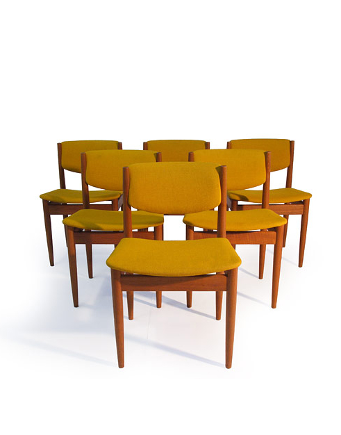 France & Son #198 Teak Dining Chairs (6)