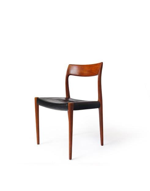 #77 J.L. Møller Teak Dining Chairs (6)
