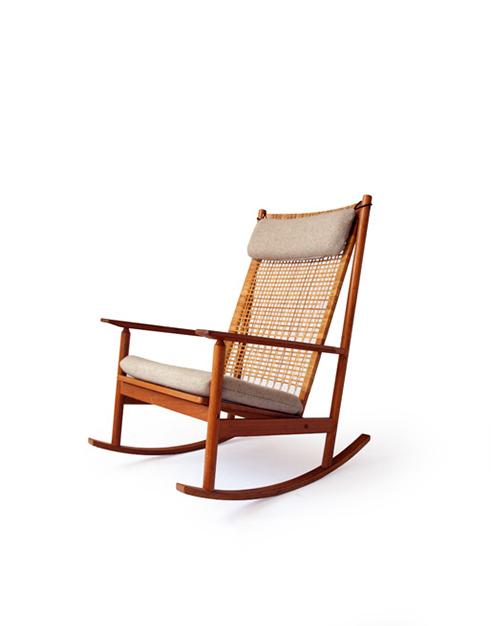 #532A Teak Rocking Chair