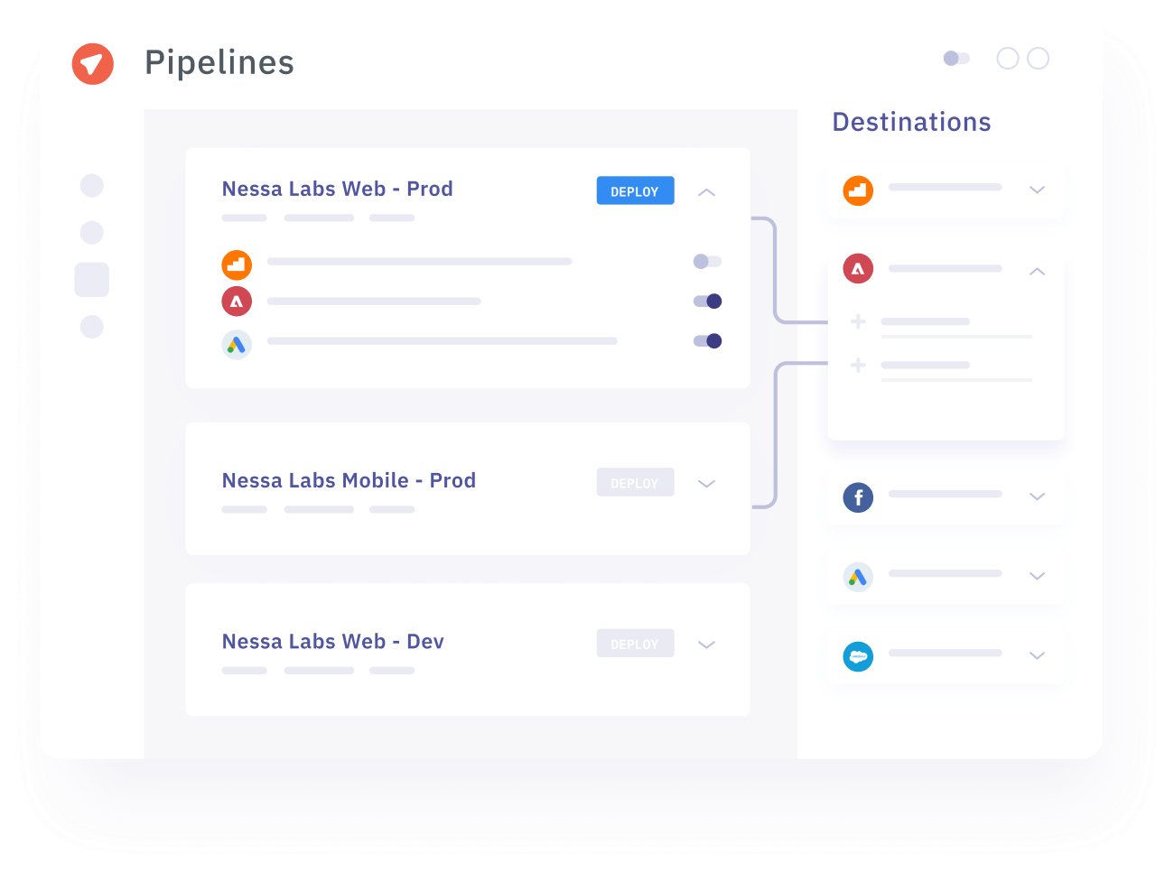 Example of gathering data with Pipelines