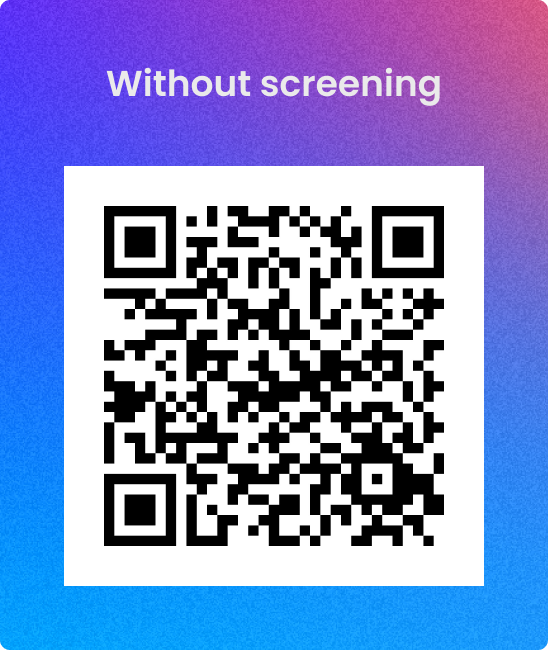 Candr QR code without COVID-19 screening