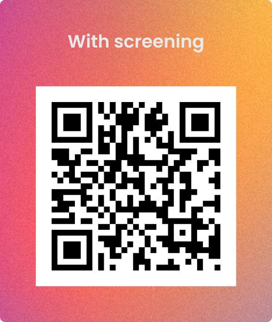 Candr QR code with COVID-19 screening