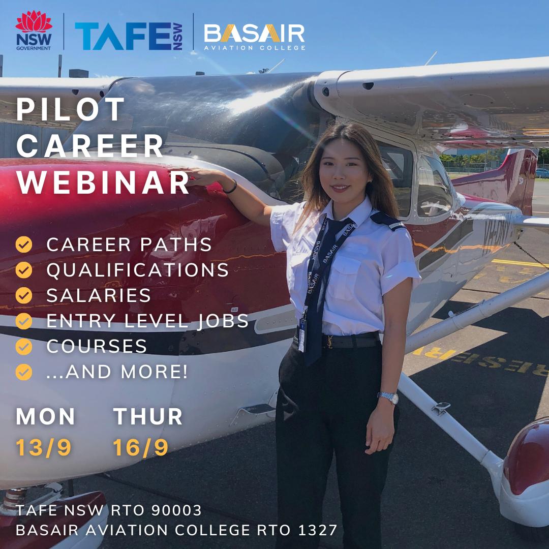 TAFE NSW x Basair Aviation College Pilot Career Webinar
