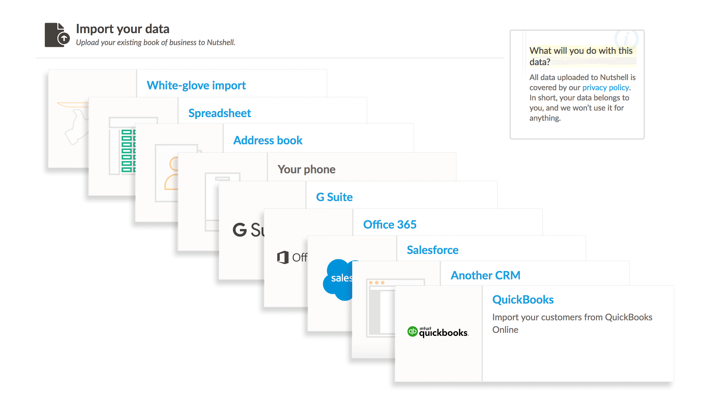 Import your contacts, calendar, and emails from any source