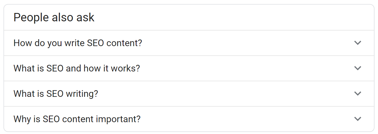 Other questions from Google.