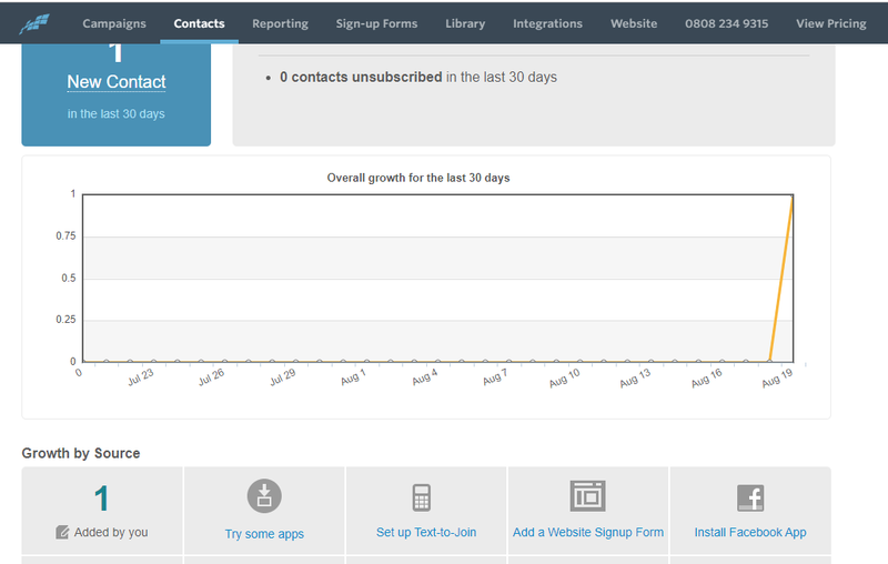 constant contact crm features