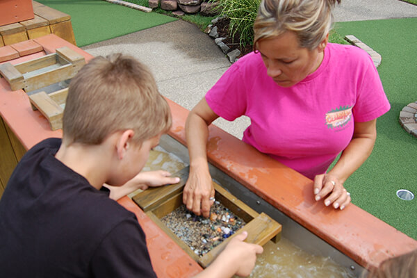 Gemstone panning at Clubhouse