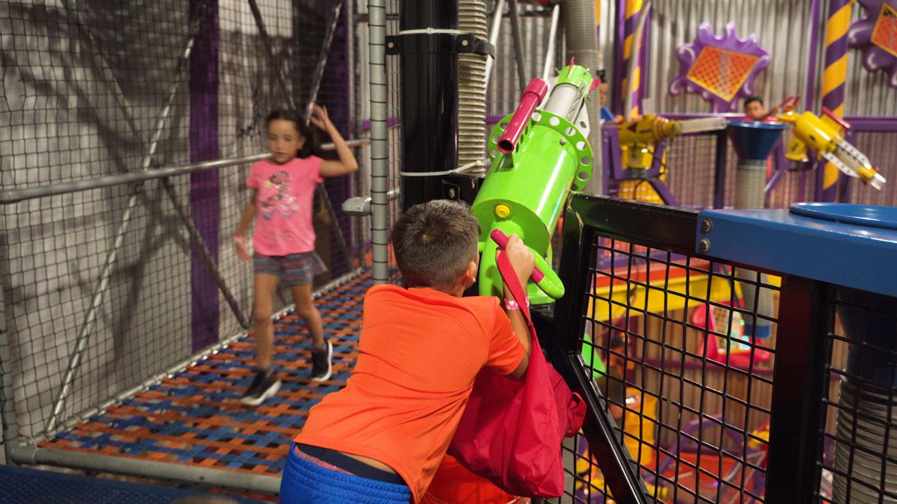 Kid having a blast at fun factory