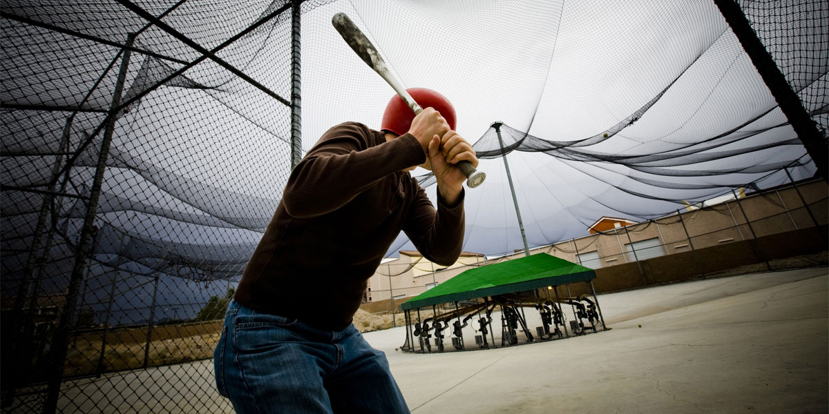 Batting cage in Greece