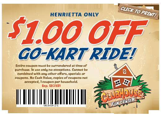$1 off go-kart ride