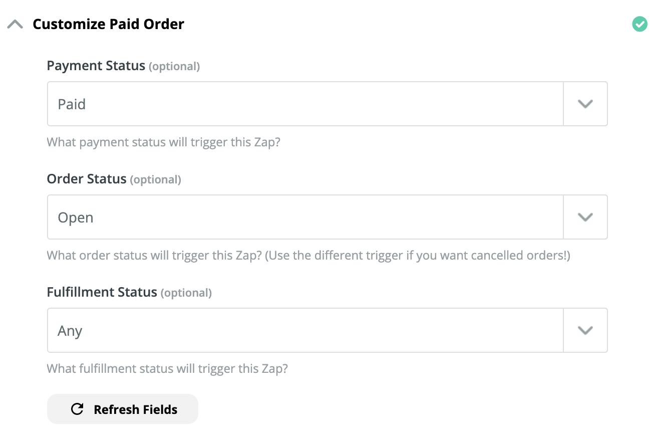 custom paid order