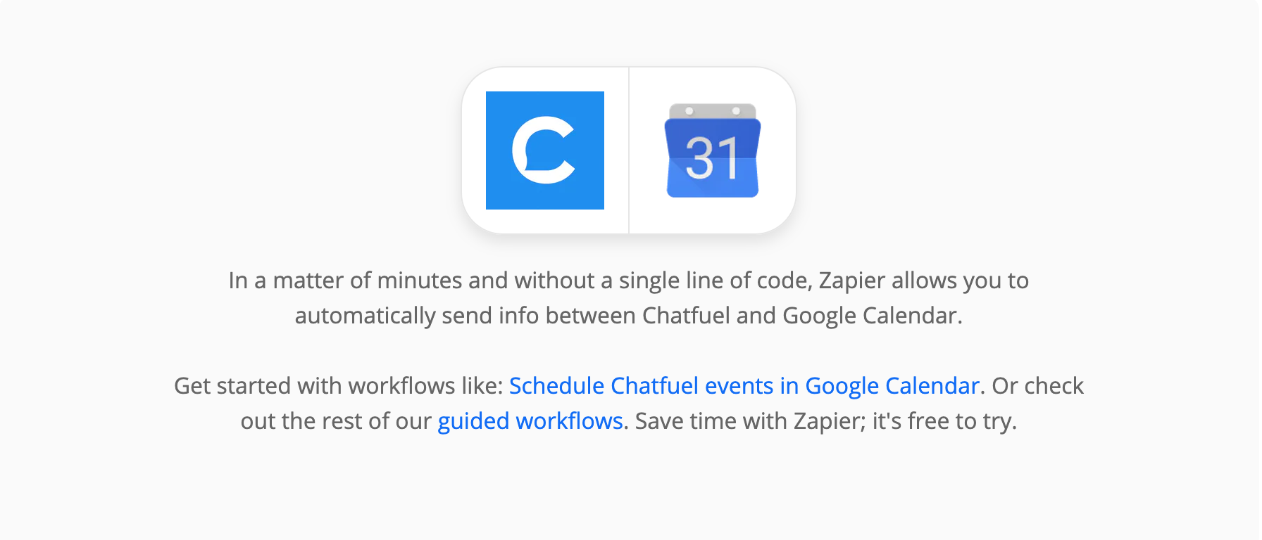 Zaps for event scheduling