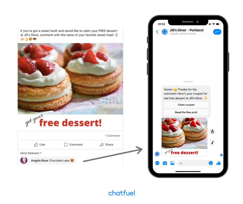 Acquire Users from Comments feature for your chatbot