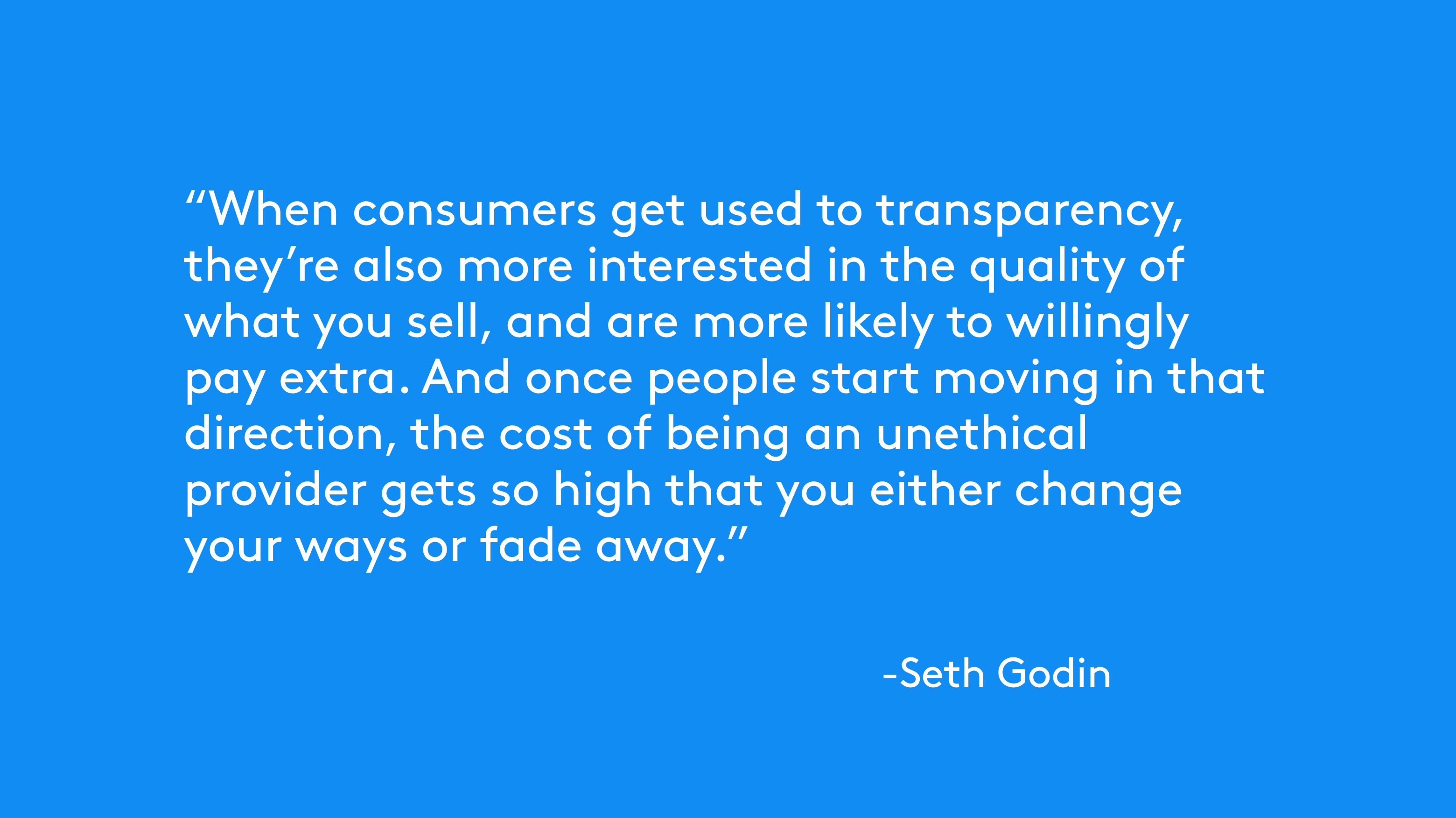 transparency seth godin