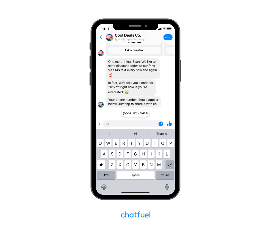 Save User Phone Number and Save User Email with your bot
