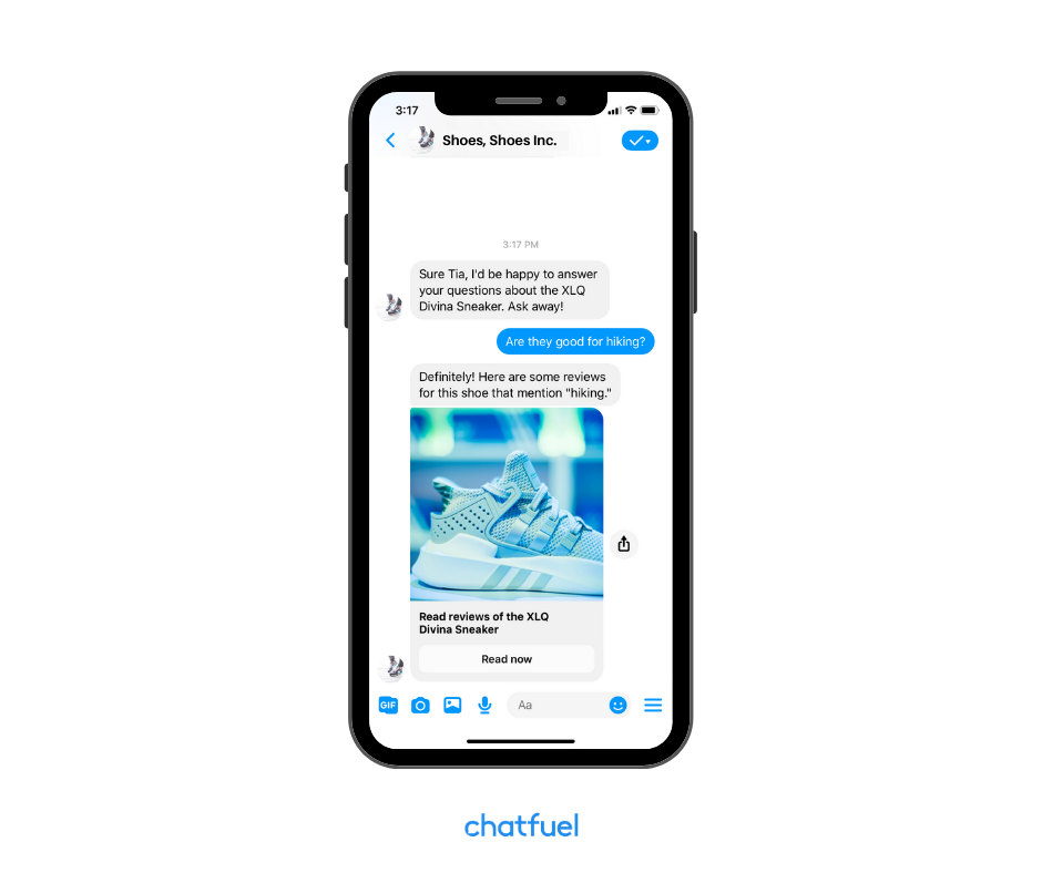 use social proof in your store's Messenger bot
