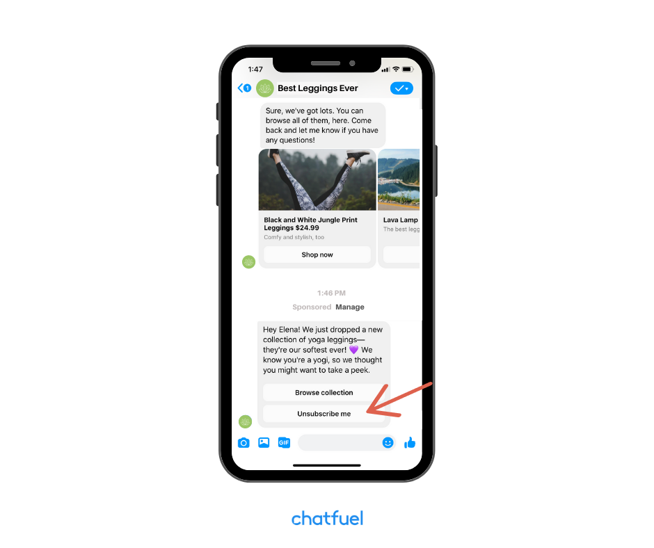 Facebook Sponsored Messages for your chatbot