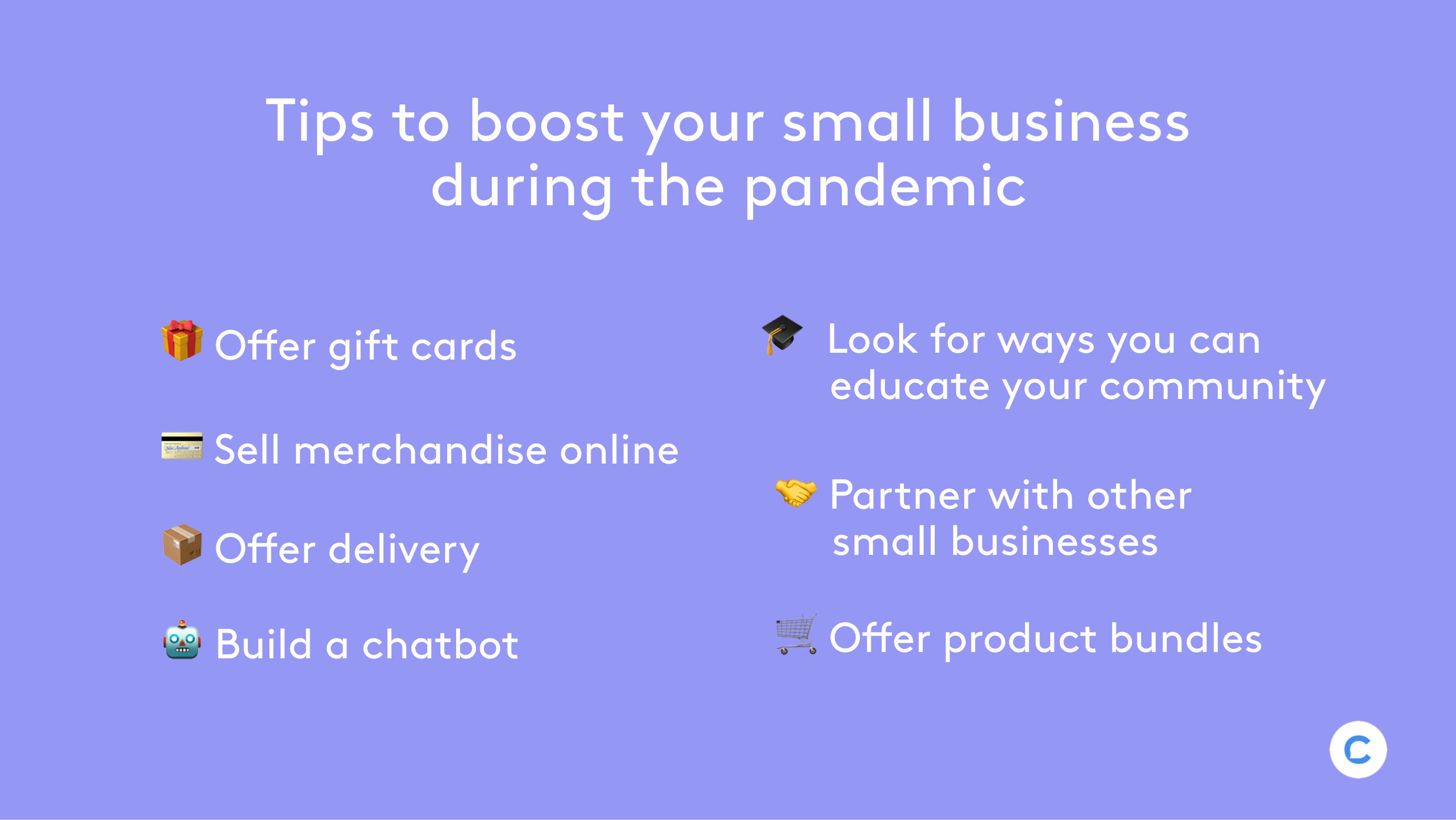 Boost your small business during pandemic