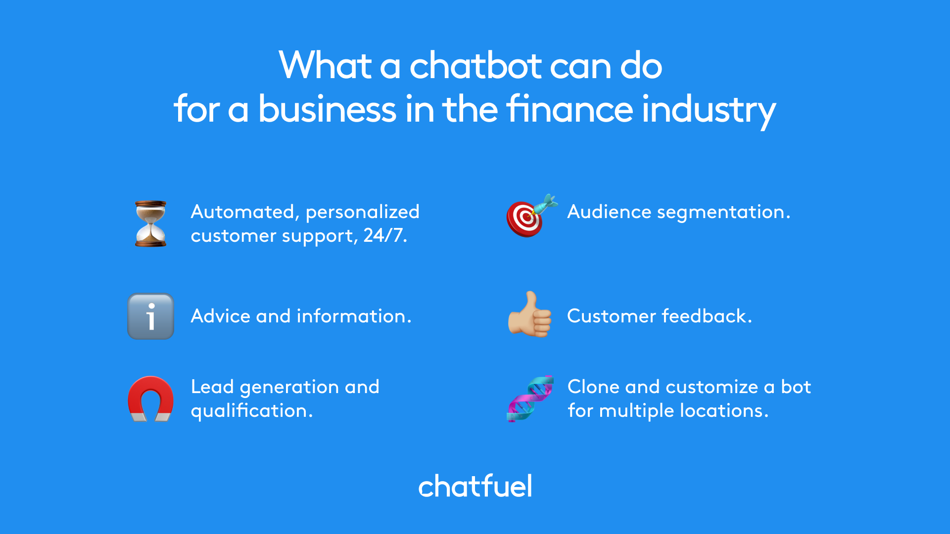 Chatbot for banking and financial industry