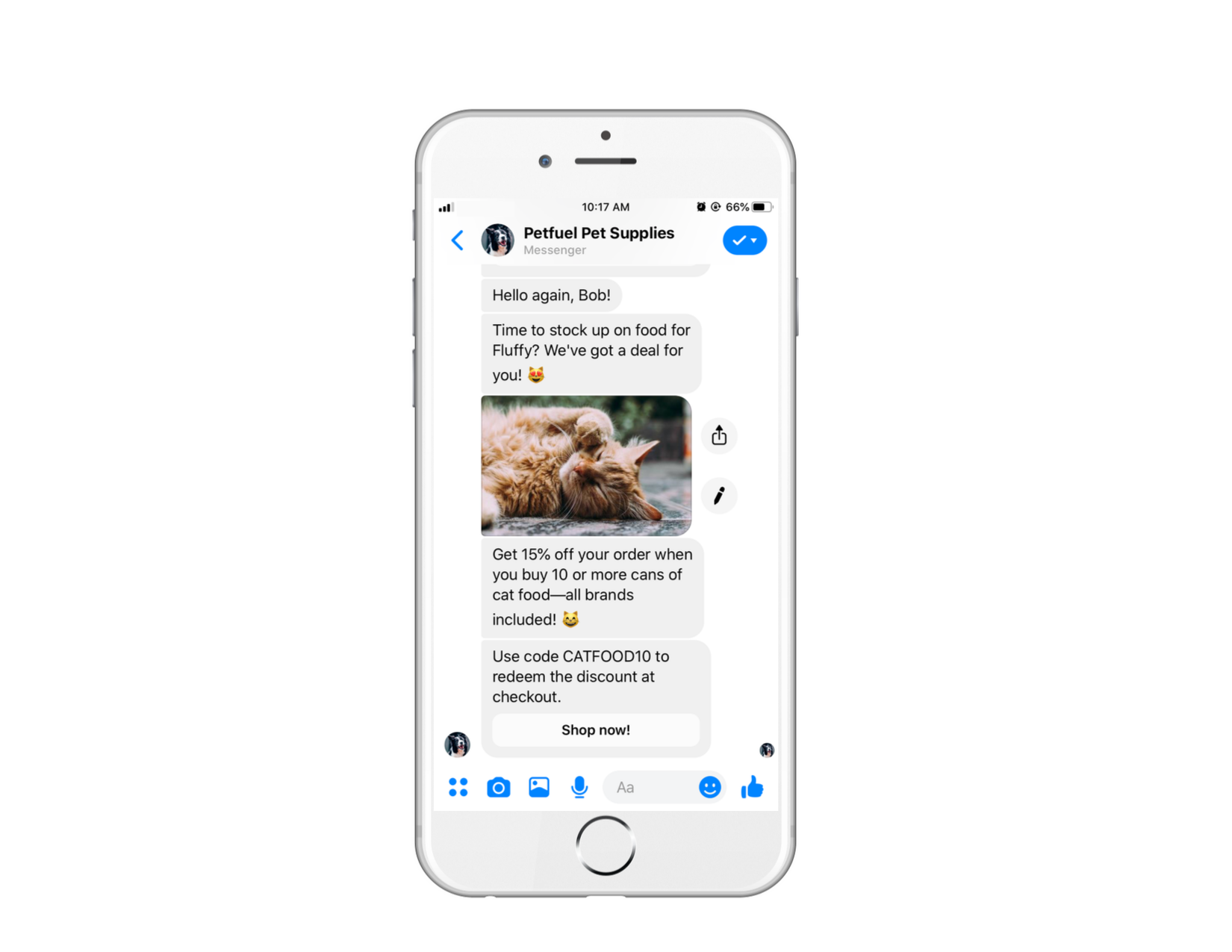 Volume discounts for customers within chatbots