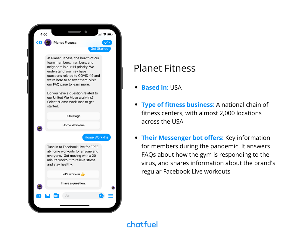 chatbots for fitness