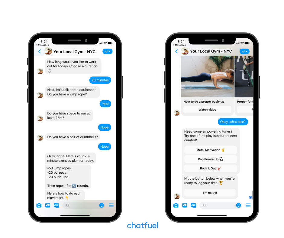 chatbots for gyms