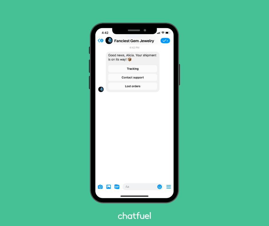 Link your chatbot to your Shopify store