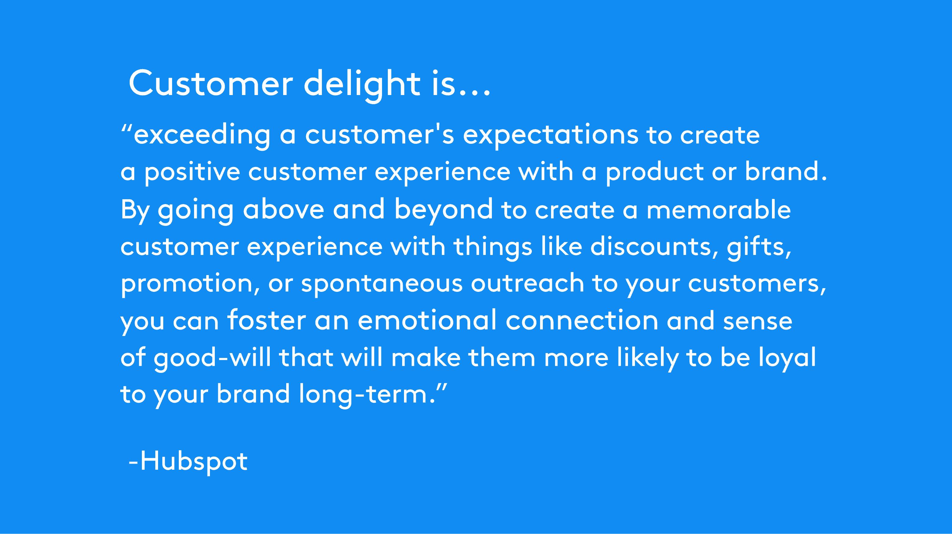 Hubspot about Customer delight