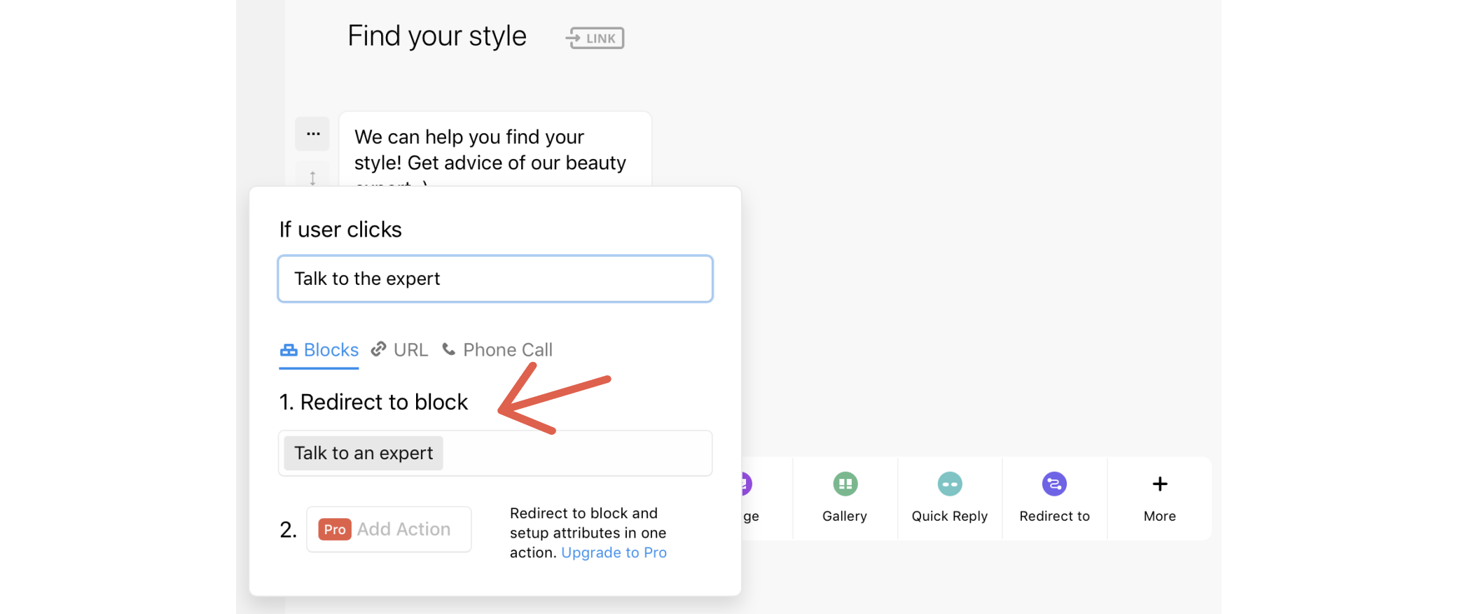 Quick-jump to specific blocks