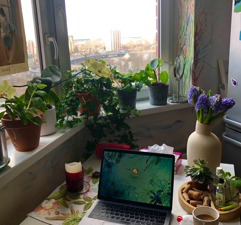 at-home workspace