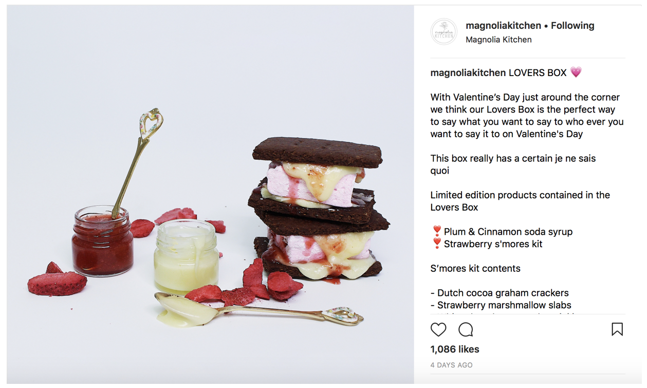 Promote your product on Instagram for Valentine's day using hashtags