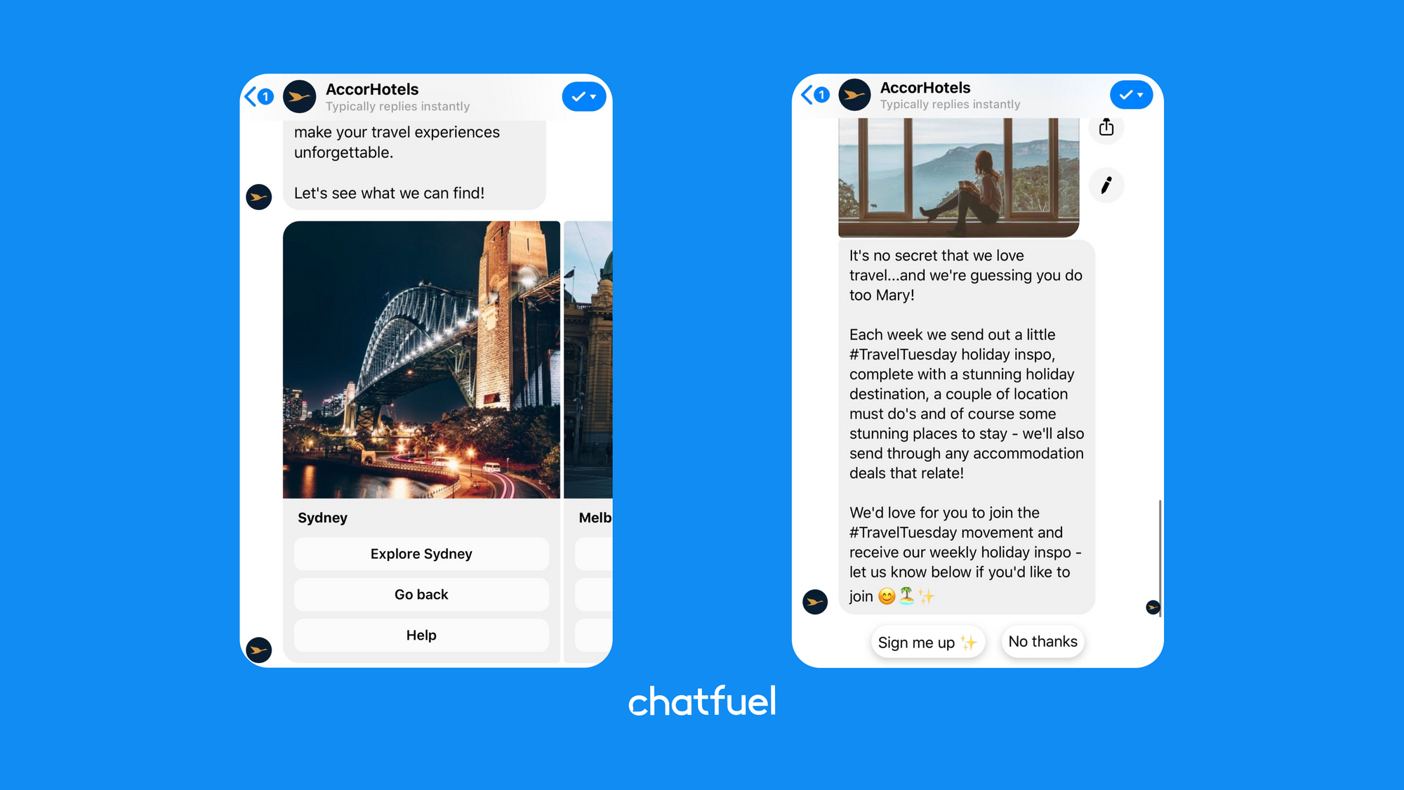 chatbot for travel business